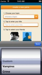"Friend Fiction - This app is one of the most fun applications for hacking out prose we've seen on the iPhone. It's a unique and engaging way to fabricate strange tales with your buddies, and all without spending a dime. One player starts a chain by selecting a topic, as well as word limits for both the post and individual turns. Then, players begin by adding portions of the story turn by turn—a poetry technique called the ""Magnificent Corpse."" Click the image for our full review."