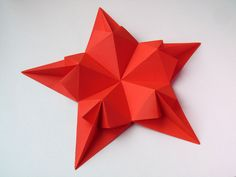 Poems origami paper: Star of hearts