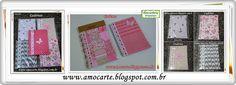 Cadernos tecido de algodão http://www.amocarte.blogspot.com.br/