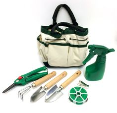 Fantastic Houseplant/Garden Mini 7 Piece Tools and Accessory Kit With Handy Bag in Garden Patio, Garden Hand Tools Equipment, Garden Tool Sets