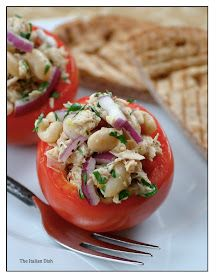 Tomatoes Stuffed with Tuna and Cellini Beans