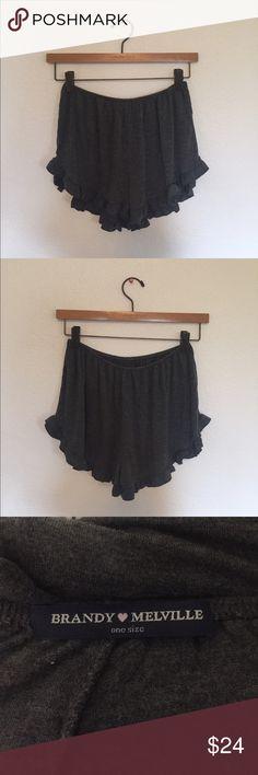 Brandy Melville Dark Grey Flowy Shorts Brandy Melville Dark Grey Flowy Shorts! Brand new, never worn! Super soft and versatile!            **NO TRADE** Brandy Melville Shorts