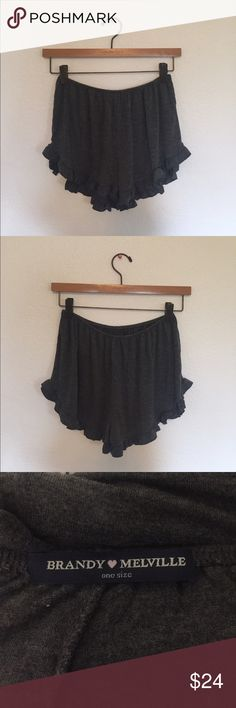Brandy Melville Dark Grey Vodi Shorts Brandy Melville Dark Grey Flowy Shorts! Brand new, never worn! Super soft and versatile!            **NO TRADE** Brandy Melville Shorts