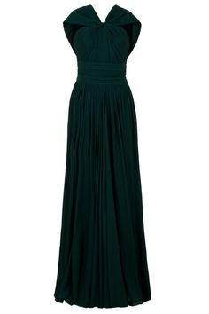 Elie Saab Loop Front Pleated Gown | Dress, Frock and Clothing