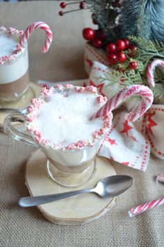 White Xmas peppermint hot chocolate