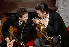 Bob Dylan and Johnny Cash by Jim Marshall - 1969