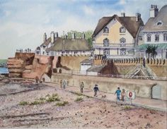 Sidmouth, Watercolour & Ink, Liz Smerdon, SAA Professional Members' Galleries