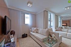 Living ampliado: no lugar do 3º quarto, fizeram uma sala de estar para receber os amigos