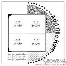 sketch scrapbook layouts - Buscar con Google