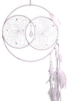 "12"" Soul Connection Dream Catcher - White. Swarovski Crystal."