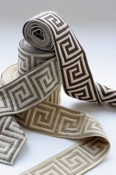black and gold greek key upholstery trim - Google Search for living room curtains