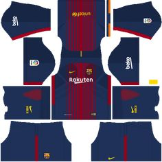 02efc24aa Barcelona Home Kit Dream League Soccer Barcelona Football
