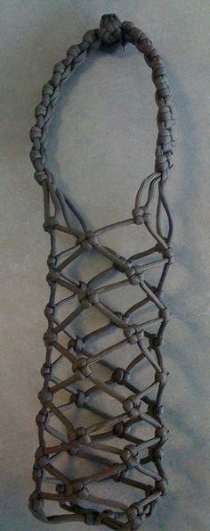 paracord water bottle carrier.