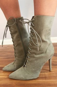Lover Girl Heels: Dusty Sage