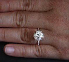 Stunning Moissanite Engagement Ring Diamond by Twoperidotbirds