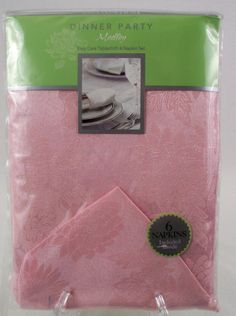 Home Wear Dinner Party Medley Set 60 x 84 Tablecloth 6 Napkins Pink Floral
