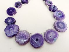 Purple Solar Quartz Stalactite Slice Natural by gemsforjewels