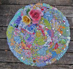 How to make mosaics and pique assiette mosaic art gifts by Melissa Miller Mosaic Birdbath, Mosaic Garden Art, Mosaic Art, Mosaic Glass, Glass Art, Stained Glass, Mosaic Crafts, Mosaic Projects, Mosaic Ideas