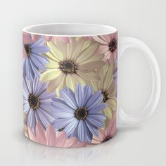 #Daisy #Pattern #floral #ceramic #mug #11oz