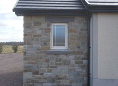 90% Tipperary Brown & 10% Tipperary Blue Sandstone - Coolestone Stone Importers Suppliers Masonry Tyrone Northern Ireland Modern Bungalow Exterior, Blue Granite, Double Front Doors, Stone Masonry, House Windows, Northern Ireland, Modern Design, Brown, Outdoor Decor