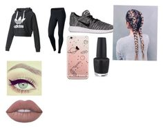 """""""Watched the Super Bowl yesterday!"""" by cursedwings ❤ liked on Polyvore featuring adidas, NIKE and OPI"""