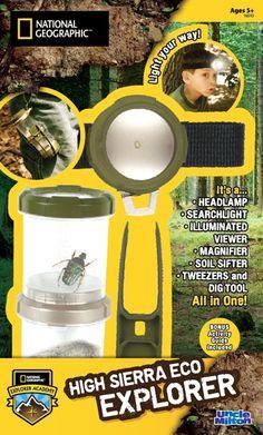 Win High Sierra Eco Explorer Kit!!!  http://www.mommyramblings.org/2012/06/18/national-geographic-all-terrain-nature-collector-high-sierra-eco-explorer-review-giveaway/