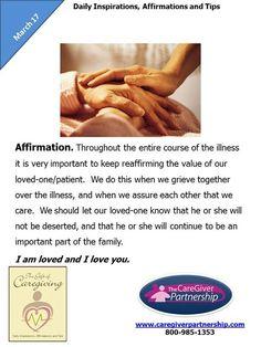 March 17 Daily CareGiver Affirmation: Affirmation #caregiver #familycaregiver #caregiving