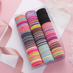 50Pcs 3cm Elastic Hair Ties Ponytail Holders Rubber Bands Hair Styling Tools for Girls - #20 Description: The product features the good elasticity, which is easy for you to stretch with proper strength but not easy to break. There are a lot of hair ties in different colors, which can match your different outfits and hairstyles on different occasions. Using premium rubber material, the product is durable and flexible. The diameter of the hair band is 3cm. It is suitable for women, kids, and girls Headband Hairstyles, Cute Hairstyles, Texas Hair, Cute Ponytails, Baby Hair Accessories, Hair Rings, Elastic Hair Bands, Elastic Rope, Ponytail Holders