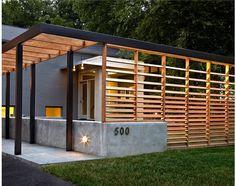 timber screen and pergola