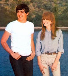 Paul McCartney and Jane Asher: May 1964. He looks just like peter, its creeping me out.