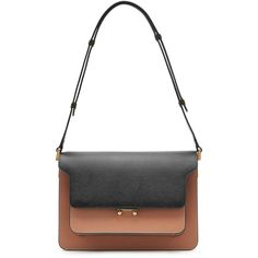 Marni Trunk Medium Leather Shoulder Bag ($1,455) ❤ liked on Polyvore featuring bags, handbags, shoulder bags, multicolor, colorful purses, leather shoulder handbags, genuine leather purse, leather purse and white purse