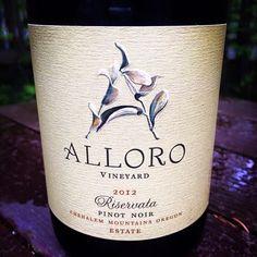 The Nittany Epicurean: 2012 Alloro Vineyard Riservata Pinot Noir
