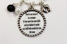 Oh my! I LOVE this!!!!   Adoption necklace...a mother's love...mother of adoption jewelry...foster mom necklace..antique silver bezel. $16.99, via Etsy.