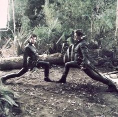 Colin O'Donoghue and Josh Dallas Stretch on Once Upon a Time Season 3 Set.....oh my gosh I love this