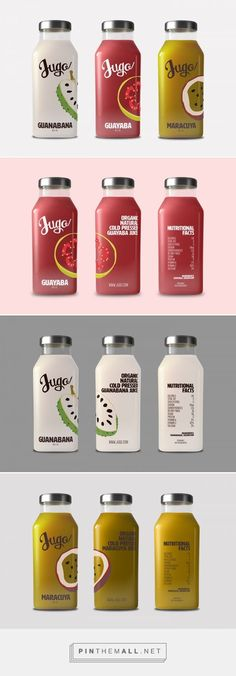 Jugo juices by Leslie Ramos. Source: Behance. Pin curated by #SFields99 #packaging #design #inspiration #ideas #product #branding #creative #juice ##bottle
