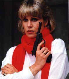"Joanna Lumley as Purdey, the last ""Avengers Girl"" Joanna Lumley, Emma Peel, The Avengers, Young Celebrities, Beautiful Celebrities, Stunning Women, Beautiful People, Celebs, Dame Diana Rigg"