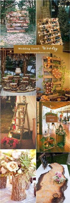 rustic wooden wedding ideas
