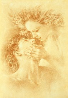 "Saatchi Art Artist Walter Girotto; Drawing, ""THE KISS"" #art"