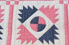 Antique Civil War Era Delectable Mountain Antique Quilt 1800'S | eBay