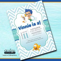Bubble Guppies Birthday Invitation by SLMDesignSolutions on Etsy