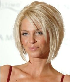 Layered Blonde Bob