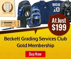Beckett Grading Services Club-GOLD membership at just $199   SportsCardsCart