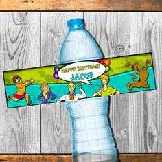 Étiquette de bouteille deau de Scooby Doo par HappyColorsDesign