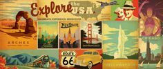 Art & Soul of America by Anderson Design Group .... love this print series - I'd love to collect the ones from the places we've been!