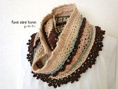 crochet scarf snood http://fuwasarakoron.blog55.fc2.com/