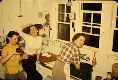 All sizes   Kitchen Clean-up Duty with Party Girls - Kodachrome 1950's   Flickr - Photo Sharing!