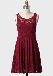 true desire lace dress in burgundy