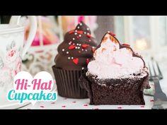 Hi-Hat Cupcakes | Merengue italiano y chocolate | San Valentín | Quiero Cupcakes! - YouTube