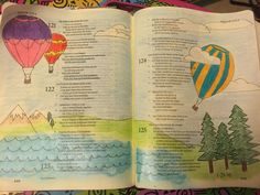 Psa 121:5-8 Prismacolor Pencils and FC Pitt pen.  #biblejournaling #illustratedfaith