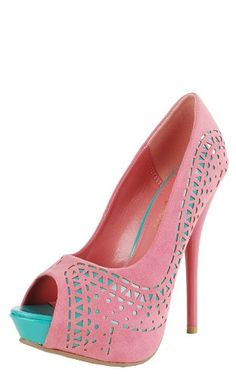 Sorry, this item is not available in   Image not available for  Color:   Image not availableTo view this video download Flash Player      Share your own customer images       Diva Lounge   Lorane23 Perforated Platform Pump CORAL